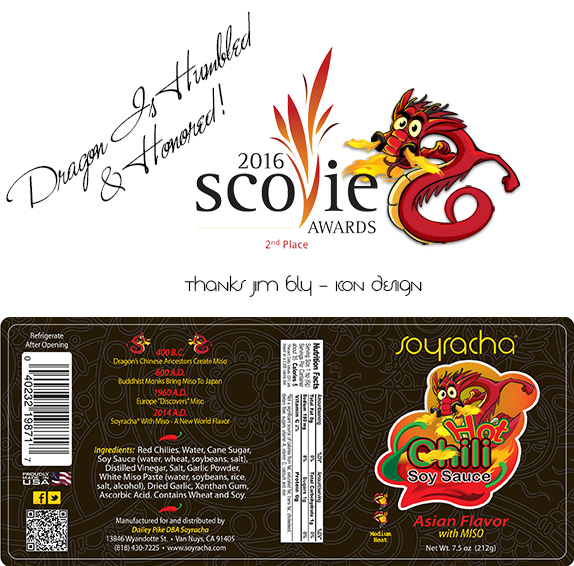 Soyracha Label 2nd  Place 2016 Scovie Awards