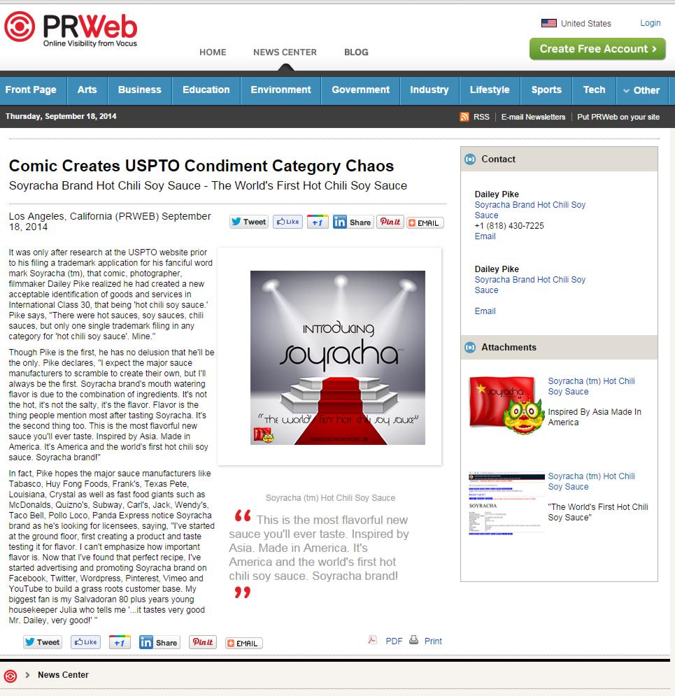 prweb press release