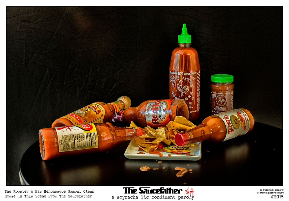 Saucefather Publicity Photo Rooster & Henchsauce Sambal Clean House