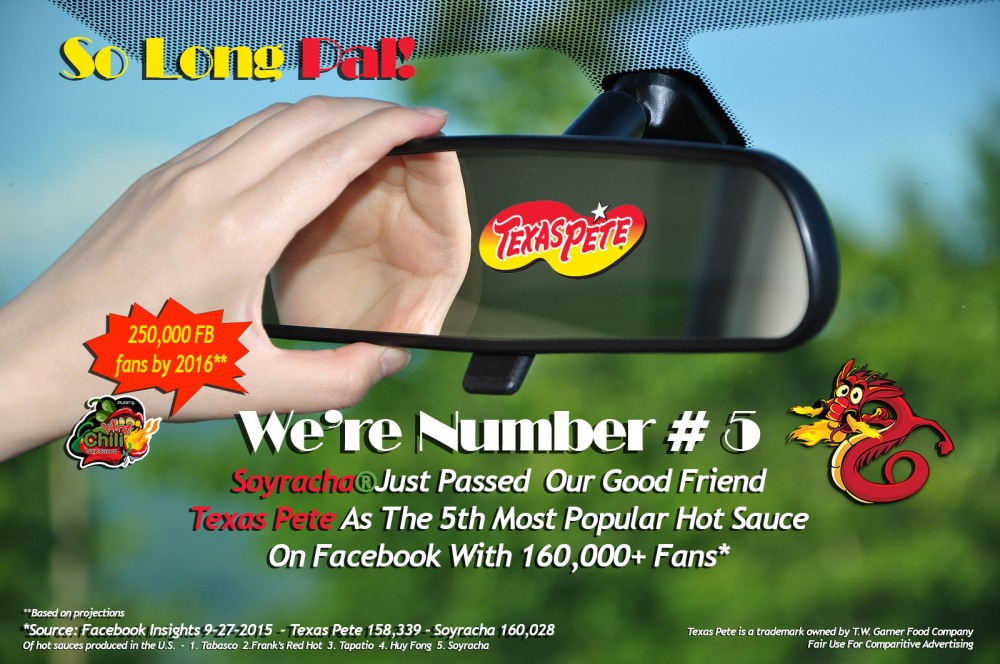 Soyracha Passes Texas Pete As 5th Most Popular Hot Sauce On Facebook