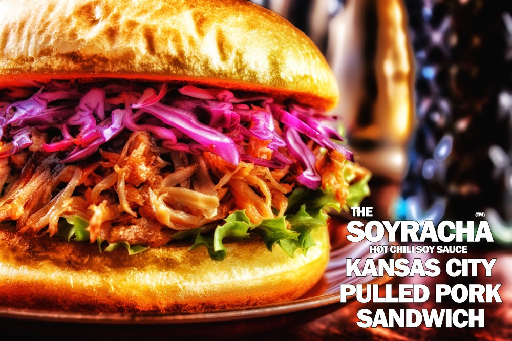 The Soyracha Kansas City Pulled Pork Sandwich